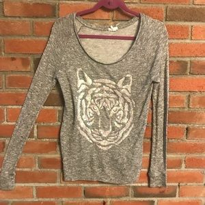 Sparkly tiger long sleeve
